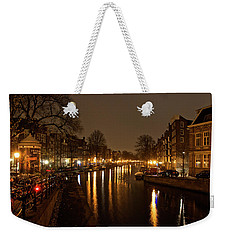 Prinsengracht Canal After Dark Weekender Tote Bag
