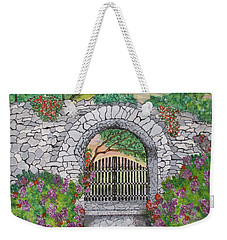 Private Garden At Sunset Weekender Tote Bag