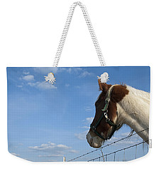Weekender Tote Bag featuring the photograph Profile Of A Horse by Charles Beeler