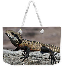 Weekender Tote Bag featuring the photograph Profile Of A Waterdragon by Miroslava Jurcik