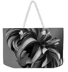 Profile Of Not Santa Two In Black And White Weekender Tote Bag