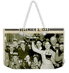 Prohibition Ends Celebrate Weekender Tote Bag by Jon Neidert