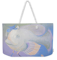 Weekender Tote Bag featuring the painting Promenade by Marina Gnetetsky