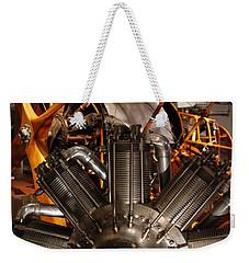 Prop Plane Engine Illuminated Weekender Tote Bag