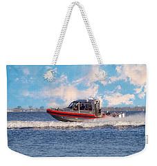 Protecting Our Waters - Coast Guard Weekender Tote Bag by Kim Hojnacki
