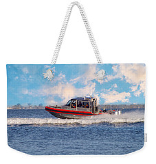 Protecting Our Waters - Coast Guard Weekender Tote Bag