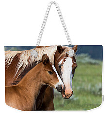 Weekender Tote Bag featuring the photograph Proud Mommy by Michael Chatt