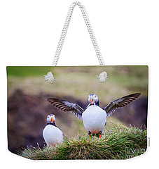 Proud Puffin Weekender Tote Bag