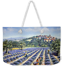 Weekender Tote Bag featuring the painting Provencal Harvest by Rosemary Colyer
