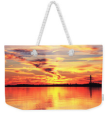 Weekender Tote Bag featuring the photograph Provincetown Harbor Sunset by Roupen  Baker