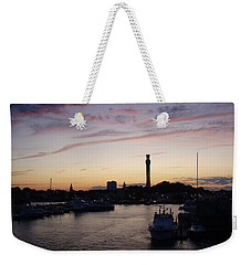 Weekender Tote Bag featuring the photograph Provincetown Sunset by Robert Nickologianis