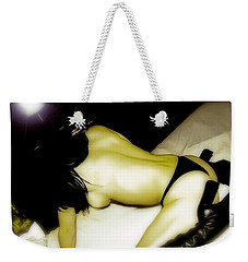 Weekender Tote Bag featuring the photograph Provocative  by Iconic Images Art Gallery David Pucciarelli