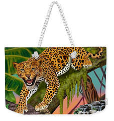 Prowling Leopard Weekender Tote Bag by Glenn Holbrook
