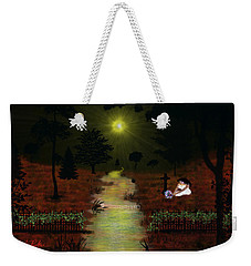 Weekender Tote Bag featuring the digital art Psalm 23  by Michael Rucker