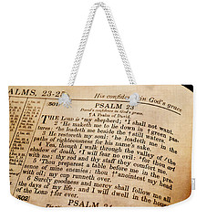 Psalm 23 - The Lord Is My Shepherd Weekender Tote Bag