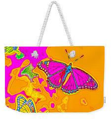 Psychedelic Butterflies Weekender Tote Bag