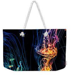 Psychedelic Cnidaria Weekender Tote Bag