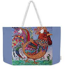 Psychedelic Rooster Weekender Tote Bag