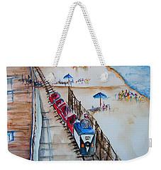 Pt Pleasant Nj Sand Train Weekender Tote Bag