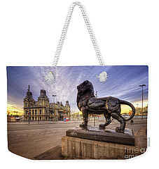Puerto De Barcelona Sunrise Weekender Tote Bag