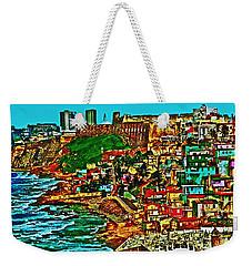 Old San Juan Puerto Rico Walled City Weekender Tote Bag by Carol F Austin