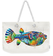 Puffer Fish Art - Blow Puff - By Sharon Cummings Weekender Tote Bag