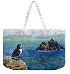 Puffin At Skellig Island Ireland Weekender Tote Bag
