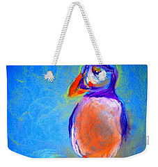 Funky Puffin Dancing Weekender Tote Bag