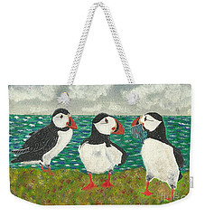 Puffin Island Weekender Tote Bag by John Williams