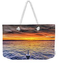 Puget Sound Sunset Weekender Tote Bag