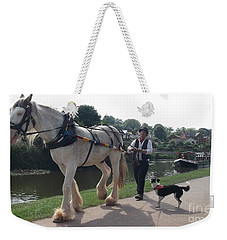 Pulling The Barge Weekender Tote Bag by John Williams