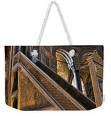 Pulpit In The Aya Sofia Museum In Istanbul  Weekender Tote Bag