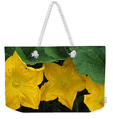 Pumpkin Blossom Trio Weekender Tote Bag