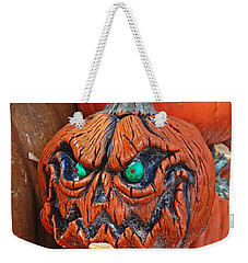 Pumpkin Face Weekender Tote Bag by Aimee L Maher Photography and Art Visit ALMGallerydotcom