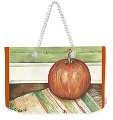 Pumpkin On A Rag Rug Weekender Tote Bag