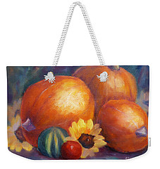 Pumpkins And Flowers Weekender Tote Bag