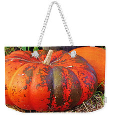 Weekender Tote Bag featuring the photograph Pumpkins by Cynthia Guinn