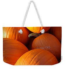 Weekender Tote Bag featuring the photograph Pumpkins by Joseph Skompski
