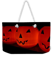 Pumpkins Lined Up Weekender Tote Bag