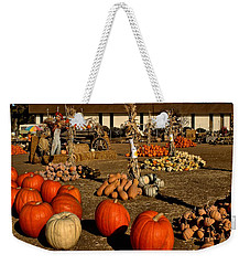 Weekender Tote Bag featuring the photograph Pumpkins by Michael Gordon