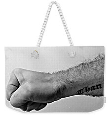Punch A Wall Weekender Tote Bag