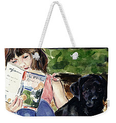 Pup And Paperback Weekender Tote Bag