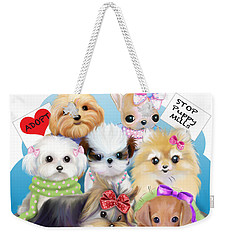 Puppies Manifesto Weekender Tote Bag by Catia Cho