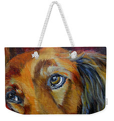 Puppy Dog Eyes Weekender Tote Bag