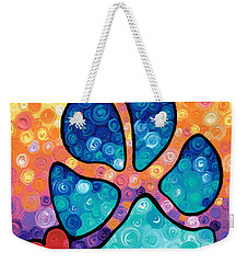 Puppy Love - Colorful Dog Paw Art By Sharon Cummings Weekender Tote Bag