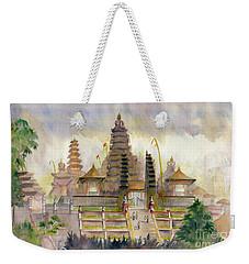 Pura Besakih Bali Weekender Tote Bag by Melly Terpening