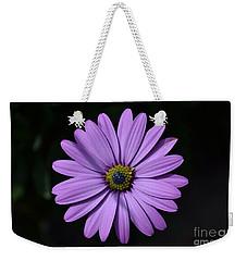 Purple African Daisy Weekender Tote Bag