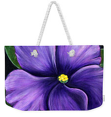 Purple African Violet Weekender Tote Bag by Barbara Griffin