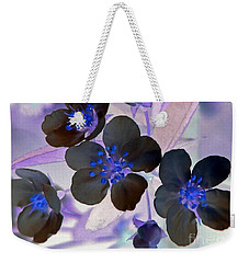 Weekender Tote Bag featuring the photograph Purple Blue And Gray by Chris Anderson
