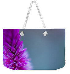 Weekender Tote Bag featuring the photograph Purple Blur by Steven Santamour